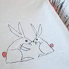 Ikea Housse pour matelas à langer SKÖTSAM Blanc, rouge, 55 x 83 cm