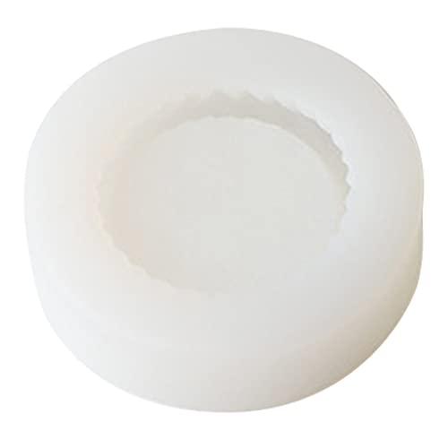 PHILSP Moldes para Velas Oso Mousse Pastel Molde para Velas Silicona Fondant Creativo Moldes epoxi Fabricación de Velas Blanco 1