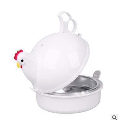 Mikrowellen Eierkocher Huhn Form Ei Wilderer Mikrowelle Dampfkessel Dampfer Eierkocher Ei-kocher Frühstücksei Mikrowellenhuhn Eier Kochen Küchenhelfer Kochutensilien 13.3 × 15.7 × 15.7cm Für 4 Eier