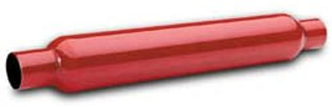 FLOW TECH 50250 Red Hots Glass Pack Muffler - 2 In.