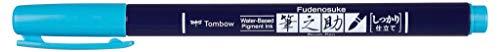 Tombow ws-BH96 Fudenosuke - Rotulador (punta dura), color azul neón