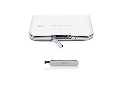 Ricambio Cover SILVER Protezione Tappo sportellino cornice ingresso USB per SAMSUNG GALAXY S5 G900F i9600