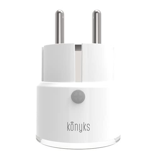 Konyks Priska Mini, prise connectée Wi-FI compacte, 10A, compatible avec Alexa et Google Home, automatisations faciles avec l'appli Konyks, aucun hub nécessaire