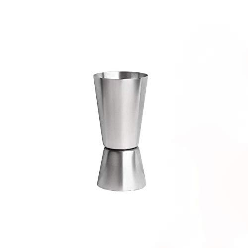 Bicchiere dosatore per cocktail, in acciaio inox, 25/45 ml, doppio Jigger Bar Craft
