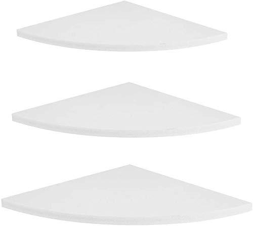 Zerone Eckregal weiß, Eckregal Wandregal Eckhalterung 5kg Tragkraft Schwimmstil Modern Style Geeignet für Home Office 3 Stück (Weiß)