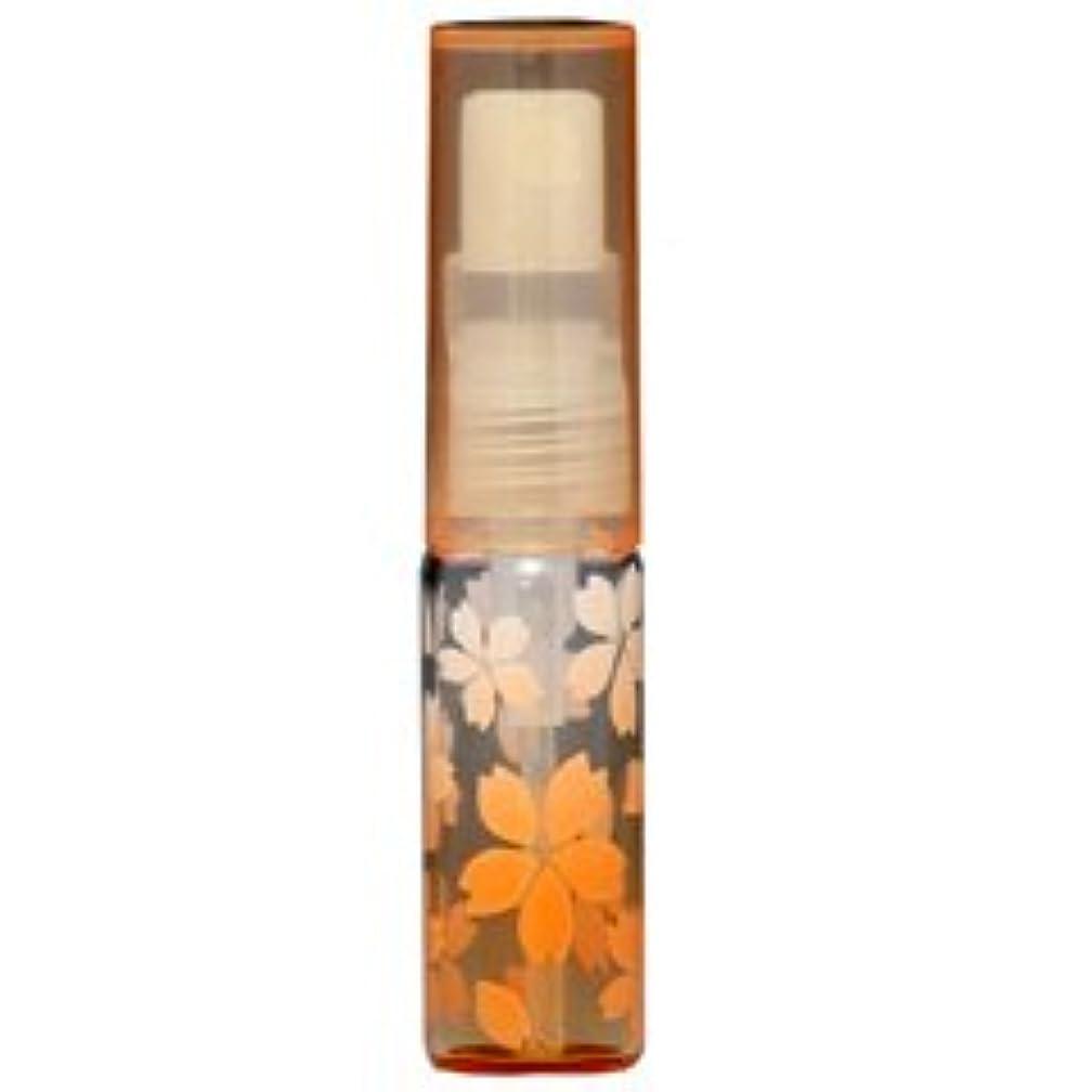 【ヒロセ アトマイザー】さくら咲く ガラスアトマイザー プラスチックポンプ 48175 (サクラ オレンジ) 4ml