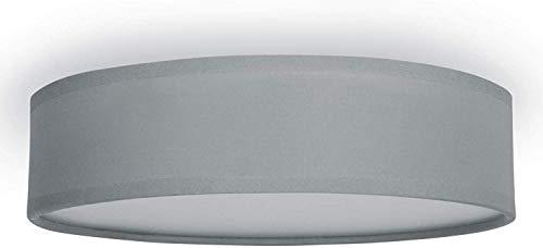 Smartwares 10.004.70 Deckenleuchte/ Textilschirm, 40 cm Ø, 3x E14, grau