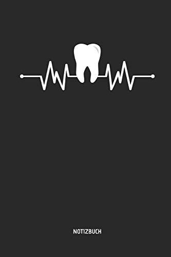 Notizbuch: Liniertes Zahnmedizinisches Notizbuch. Zahn Herzschlag. Tolle Praxis & Patienten Geschenk Idee für Zahnärzte, Zahnarzt Helferinnen, Zahn- und Kieferorthopäden.