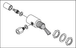 Cup Fill Toggle Valve (Gray) for A-dec ADV180 by Replacement Parts Industries