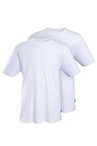 JP 1880 Herren große Größen bis 8XL, T-Shirt im Doppelpack, Basic-Shirt aus Reiner Jerseyqualität, Rundhals, Bequeme Passform weiß, weiß 6XL 702637 20-6XL