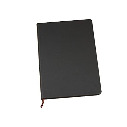 WPBOY Cuaderno retro de 25 K simple diario multifuncional para reuniones, bloc de notas de aprendizaje, adecuado para el hogar, la escuela y la oficina (color negro)
