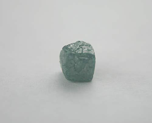Diamant Würfel roh in blau, 5,5mm x 6mm, 1,92ct.
