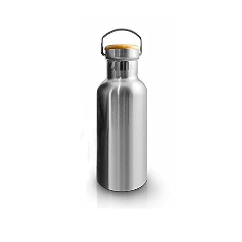Mosako - Botella isotérmica de acero inoxidable reutilizable (600 ml)
