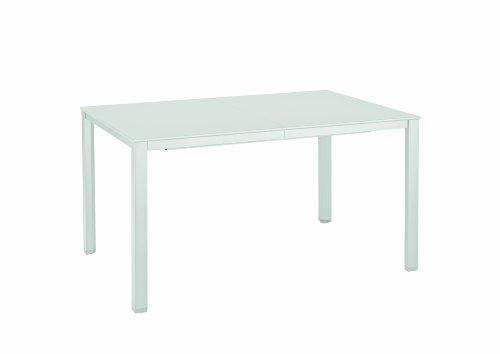 Kettler 0301823-5000 Advantage Loftauszugstisch mit einer Einlegeplatte 140/220 x 94 cm, weiß