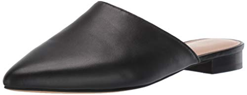 Amazon Brand - 206 Collective Women's Janet Leather Mule, Black, 10 B US