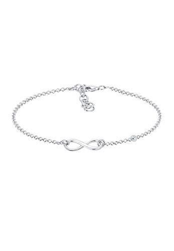 Elli Premium - Pulsera para Mujer, Plata de ley 925/1000 con diamant redondo
