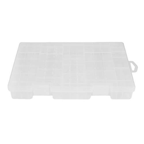 SWEEPID - Caja de almacenamiento portátil de plástico para pilas AAA/AA, color blanco