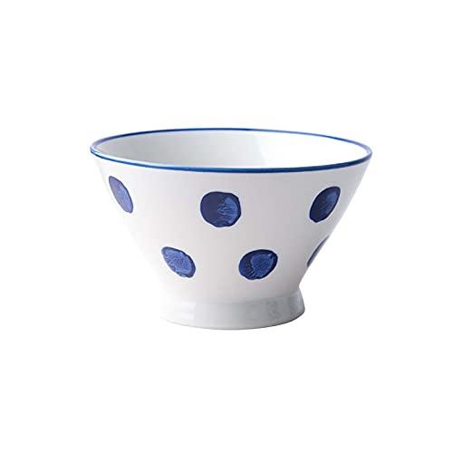 Lloow Cuencos De Ramen Japoneses, Cuenco De Cerámica para Sopa De Fideos, Cuenco De Sopa Antideslizante Vintage Premium, para Vajilla De Cocina para Ensaladas De Pasta Y Frutas,A,5 Inch