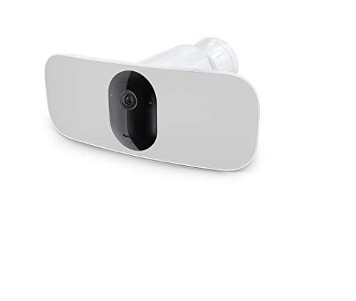 Arlo Pro3 Floodlight WLAN Überwachungskamera | Kabellos, 2K UHD, Innen / Aussen, Bewegungsmelder, Farbnachtsicht, Smart Home, LED Flutlicht, 160° Blickwinkel, 2-Wege-Audio, eingebaute Sirene, FB1001