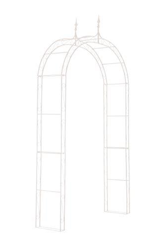 CLP Arcade de Jardin en Fer Forgé Lenz - Arche à Rosiers Robuste et Stable - Support pour Plantes Grimpantes - Hauteur 264 cm - Couleur:, Couleur:Blanc