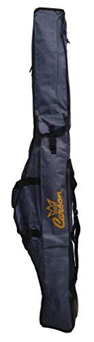 Carson - Fodero Porta Canne da Pesca Jeans con Tasca da 135 o 160 cm, Contiene 8-10 Canne Bolognesi, Fondo Rigido Antisfondamento, 2 Scomparti Materiale Resistente, Colore Jeans