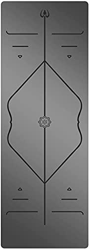 LSLS Esterilla De Yoga Profesión de alfombras de Yoga MS 5mm Movimiento de Goma Antideslizante sin Deslizamiento Estera de Aptitud con Correas estiradas Esterilla Fitness (Color : C)