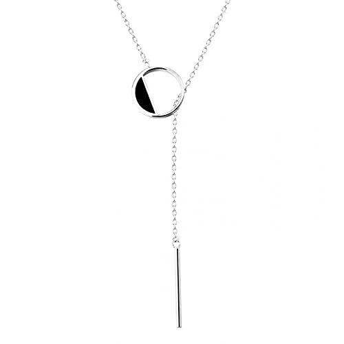 YQMJLF Collar Moda Accesorios Collares Mujer Collar para Mujer Accesorios de joyería Collar con Colgante Largo Redondo Gargantilla Joyería Elegante de Moda Joyas Mujer Navidad año Nuevo Regalos