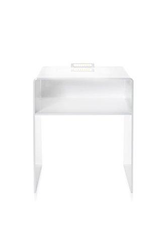 Iplex Design Lyn LED Comodino Luminoso con LED Incorporato,  Plexiglass/PMMA, Bianco