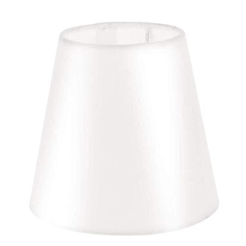 Pantalla de lámpara de techo de tela de terciopelo arrugado, color beige y blanco, doble propósito, para decoración de habitación, pantalla de luz de iluminación (5,5 pulgadas)
