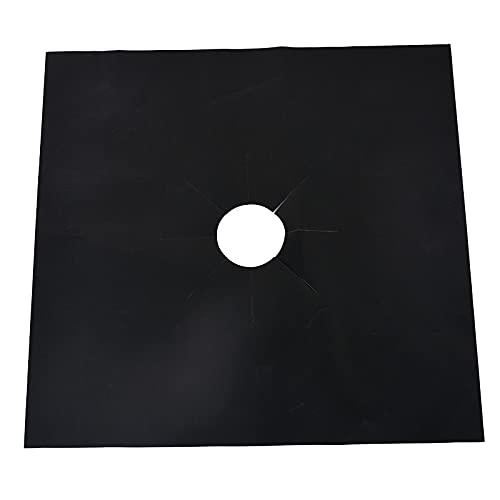 4Pcs Glass Fiber Gas Stove Protectors Reusable Stove Covers Non Stick Mat Pad Dishwasher Fire Injuries Kitchen Tools (Color : 4pc Black)