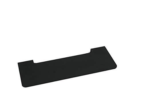 NX® Badablage ohne Bohren aus Edelstahl - selbstklebende Ablage fürs Bad - 24 x 9,5 x 5 cm (Schwarz 24cm)