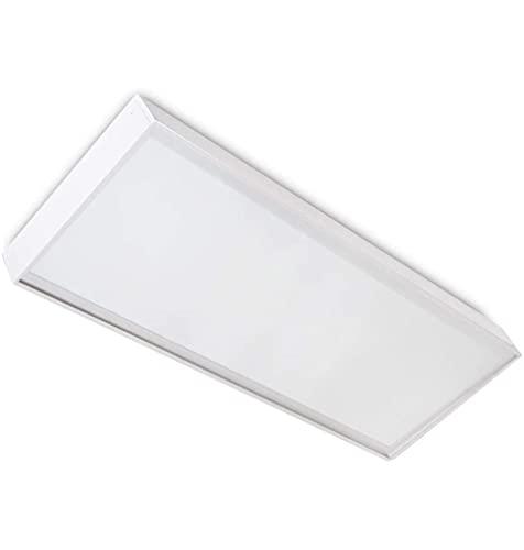 LEDUNI ® Panel Ultrafino LED 24W 60X30 Con Kit de Superficie Completo Color Blanco Neutro 4000K Angulo 120 IP40 OPAL Aluminio