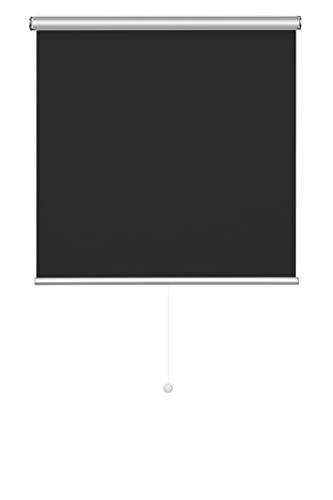 Verdunklungsrollo Thermo Rollo Klemmfix ohne Bohren Schnurlos Thermorollos Schwarz 100 * 160 cm Verdunklungsrollo Klemmrollo Hitzeschutzrollo Fensterrollo Seitenzugrollo Jalousien für Fenster und Tür