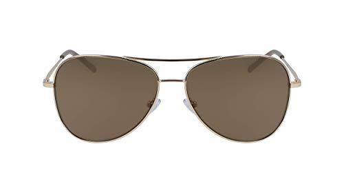 Óculos de sol feminino DKNY DK102S 717, Gold, 5814