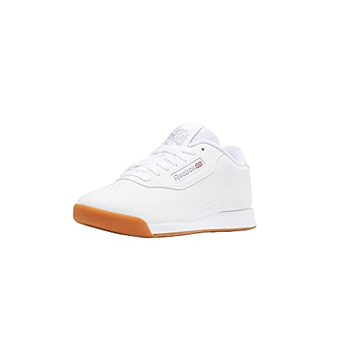 Reebok Women's Princess Wide Fashion Shoes,White/Gum,9.5 M US