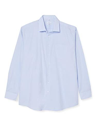 Seidensticker Herren Business Modern Fit Hemd, Blau (11 Millraye hellblau), 48