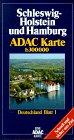 ADAC Karte, Schleswig-Holstein und Hamburg -