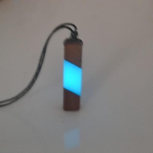 ZXCM Collar de Flecha de Moda, Resina de Madera Antigua combinada con joyería de energía de Fuerza, Regalo Luminoso Colgante