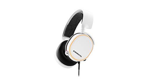 SteelSeries Arctis 5 Auriculares De Juego, Iluminados Por Rgb, Dts Headphone: X V2.0 Surround Para Pc Y PlayStation 4, Blanco