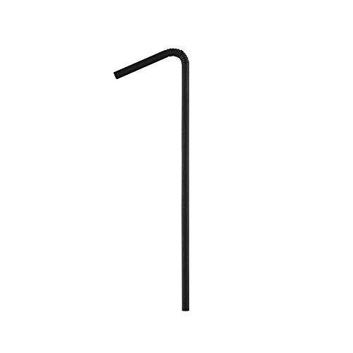 BIOZOYG Cannucce di Carta da 22cm I Cannuccia Nera 5mm Ø I Cannuccia biodegradabile I Cannucce da Festa confezionate singolarmente per Cocktail I Cannucce di Carta Flessibili 5250 Pezzi