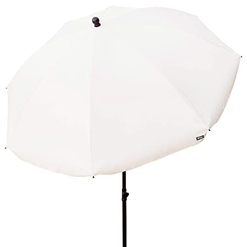 Aktive 85303 - Sombrilla de jardín, con protección UV50, Ø240 cm, color beige, mástil 28-32 mm, mástil flexible, altura regulable, Sombrillas grandes,