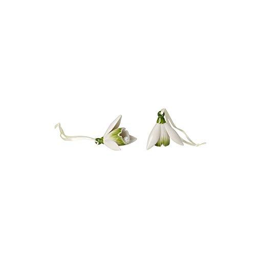 Villeroy & Boch Mini Flower Bells Schneeglöckchen, 2er Set, 4 cm, Porzellan, Weiß, Blumen
