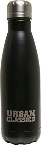 Urban Classics Survival Bottle Botella, Unisex Adulto, Negro