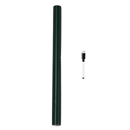 Gazechimp Adhesivo de Pared para Pizarra, 44 X 60 Cm, 1 Bolígrafo Incluido, Rollo de Papel de Contacto para Pizarra Autoadhesivo, Vinilo para Papel Pintado de T - Verde, Individual