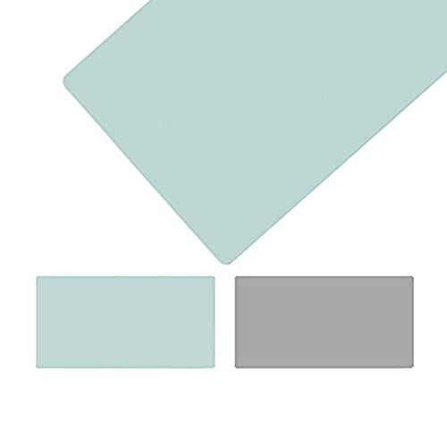 Ordenador Alfombrilla Escritorio, Vade para Escritorio Hecho de Cuero PU, Alfombrilla de Ratón Alfombrilla de Escritorio para la Oficina Hogar,Verde Menta/Gris(Size: 50x160cm/19.69x62.99in)