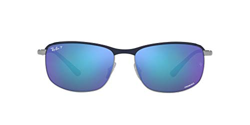 Ray-Ban 0RB3671CH Gafas, BLUE ON GUNMETAL, 60 Unisex Adulto