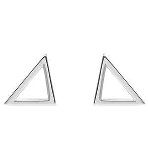 prettique® Ohrringe Damen aus edlem 925 Sterlingsilber rhodiniert – Anlaufschutz & Nickelfrei – Designed in Germany – Ohrstecker mit minimalistischem V-förmig – 1,2cm breite Ohrstecker