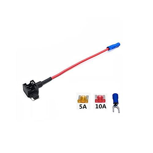 fusible Caja de fusibles Tomar electrodomésticos electrodomésticos Grabadora de conducción Socket de alambre no destructivo Mini Pequeño fusible medio Base Herramienta de reparacion ( Color : 1pcs )