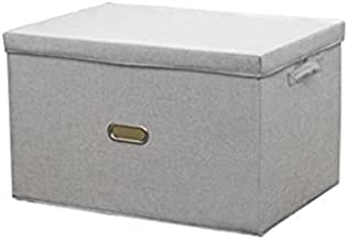 FEIMENGAIBBcwl basket, Clothes Storage Box, Gray, Suitable for Putting Panties and Socks, Foldable, Dustproof With Lid, Fa...