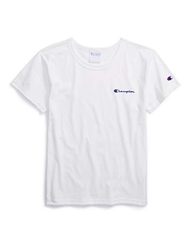 Champion Life Damen The Boyfriend Tee - Left Chest Script T-Shirt, weiß, XX-Large